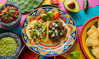Colorful Mexican dish