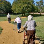 walking through park - seniors in Richardson Texas
